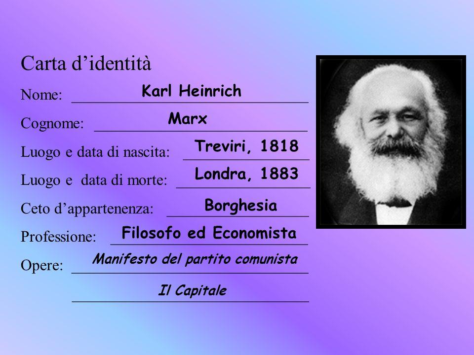 Filosofo ed Economista Manifesto del partito comunista