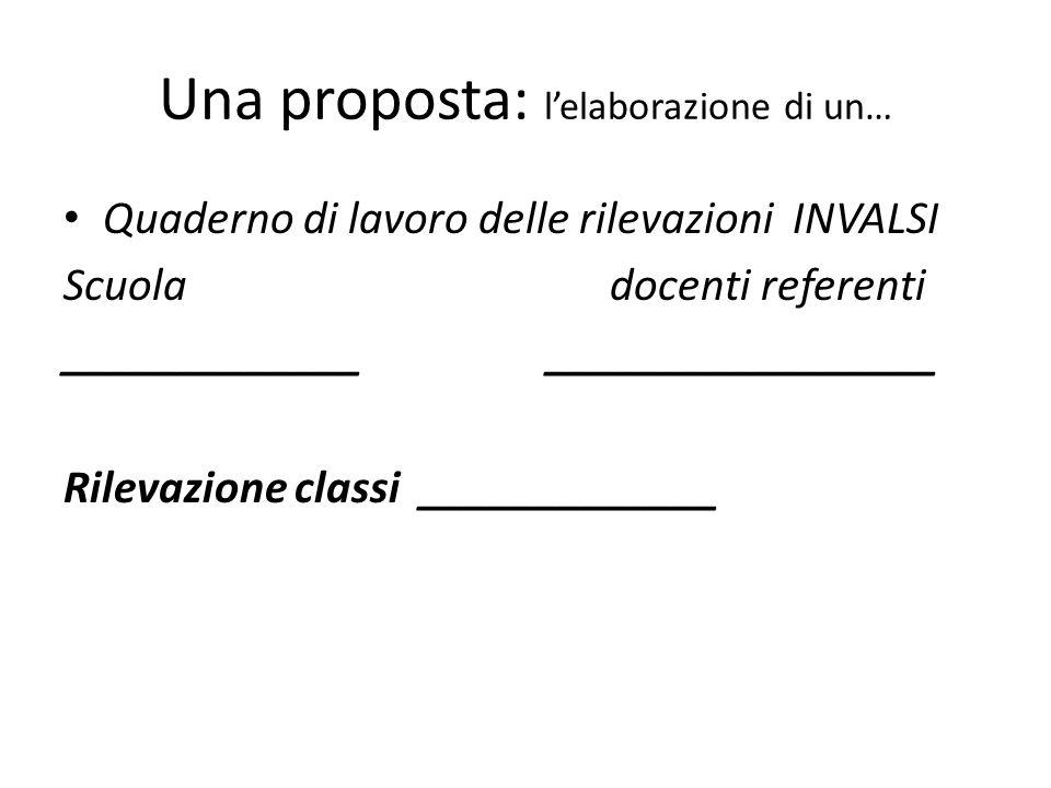 Una proposta: l'elaborazione di un…