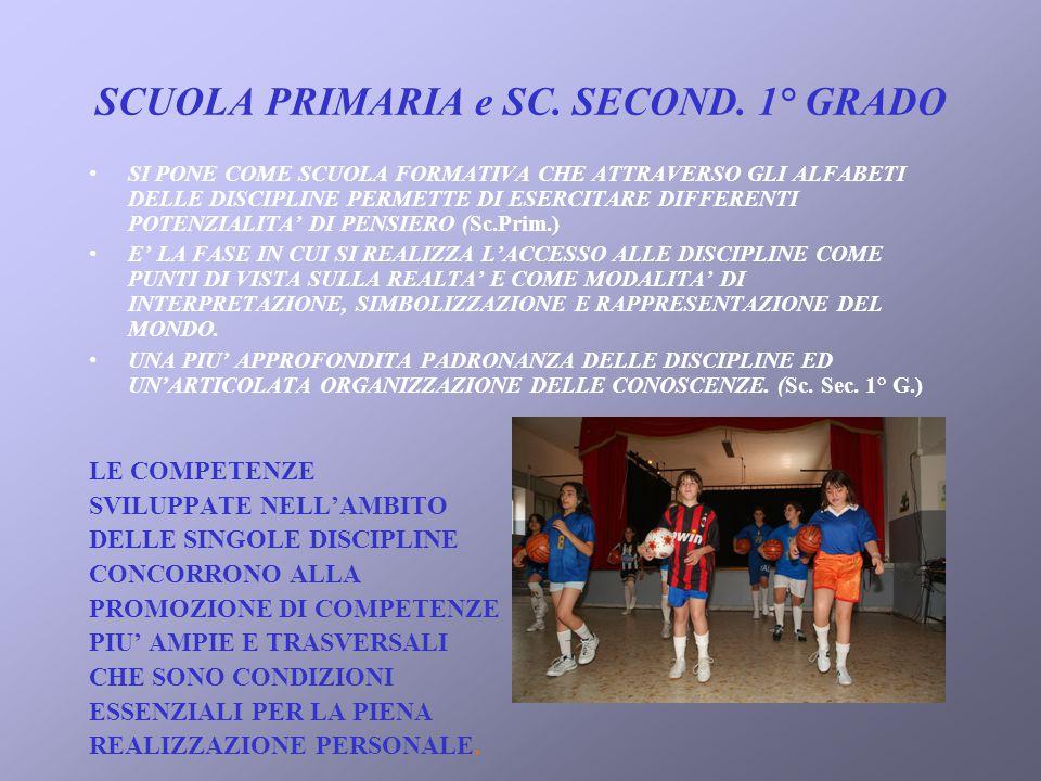 SCUOLA PRIMARIA e SC. SECOND. 1° GRADO