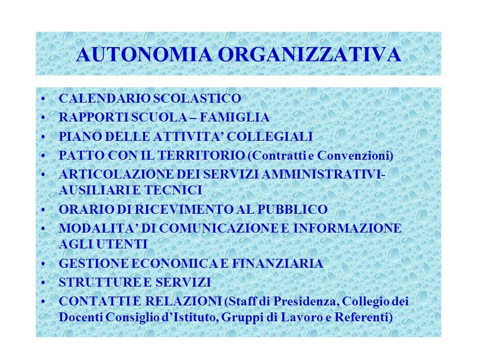 AUTONOMIA ORGANIZZATIVA