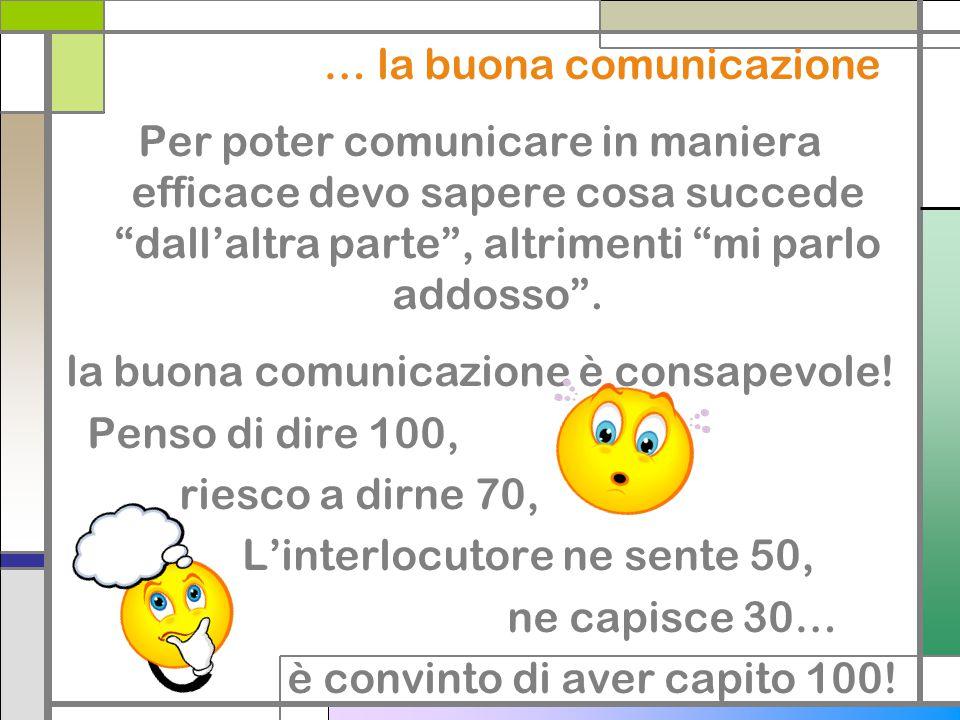 … la buona comunicazione