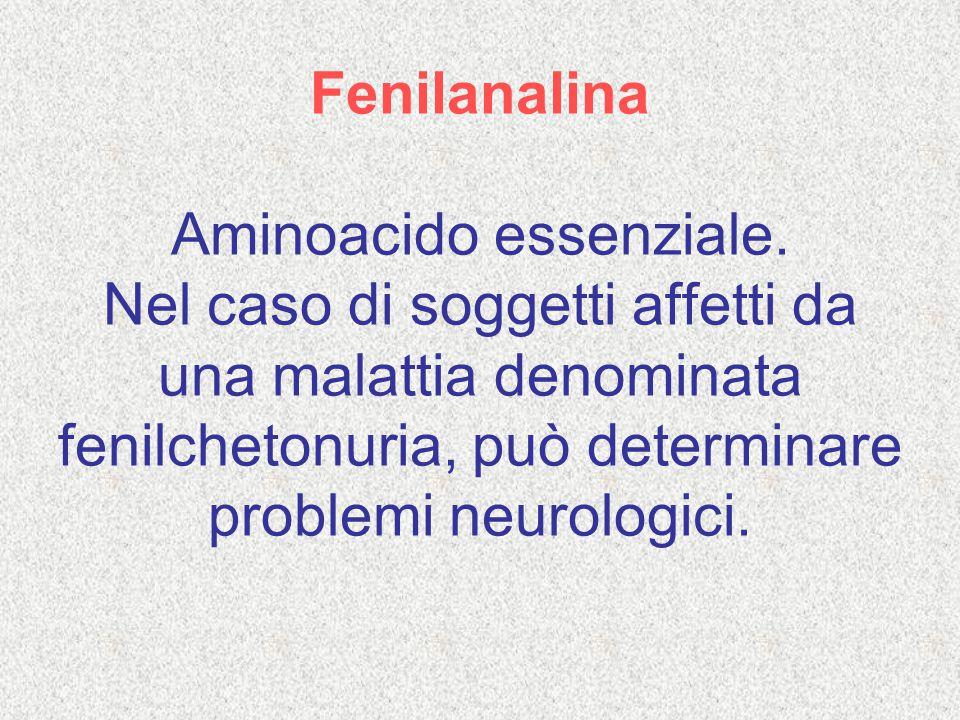 Fenilanalina Aminoacido essenziale