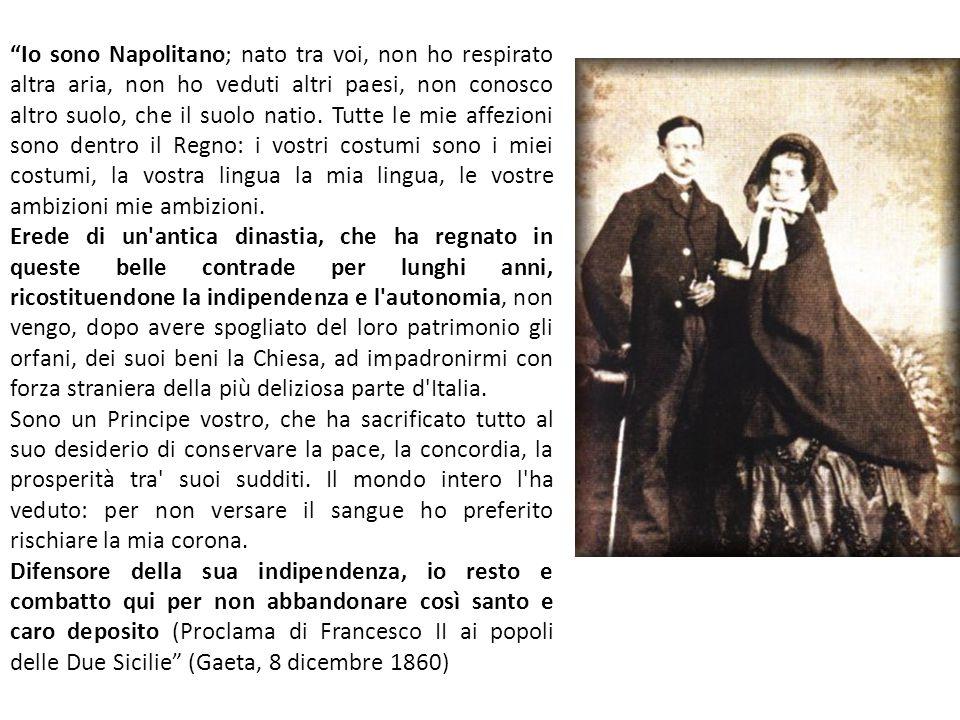 Io sono Napolitano; nato tra voi, non ho respirato altra aria, non ho veduti altri paesi, non conosco altro suolo, che il suolo natio. Tutte le mie affezioni sono dentro il Regno: i vostri costumi sono i miei costumi, la vostra lingua la mia lingua, le vostre ambizioni mie ambizioni.