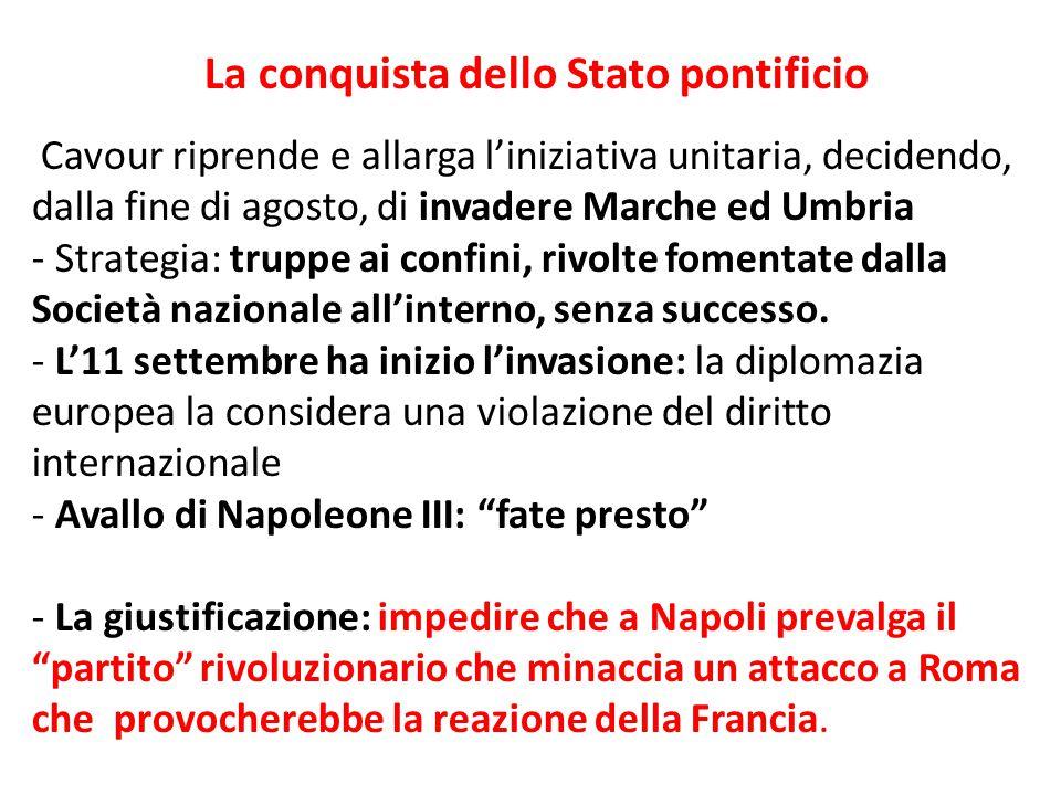 La conquista dello Stato pontificio