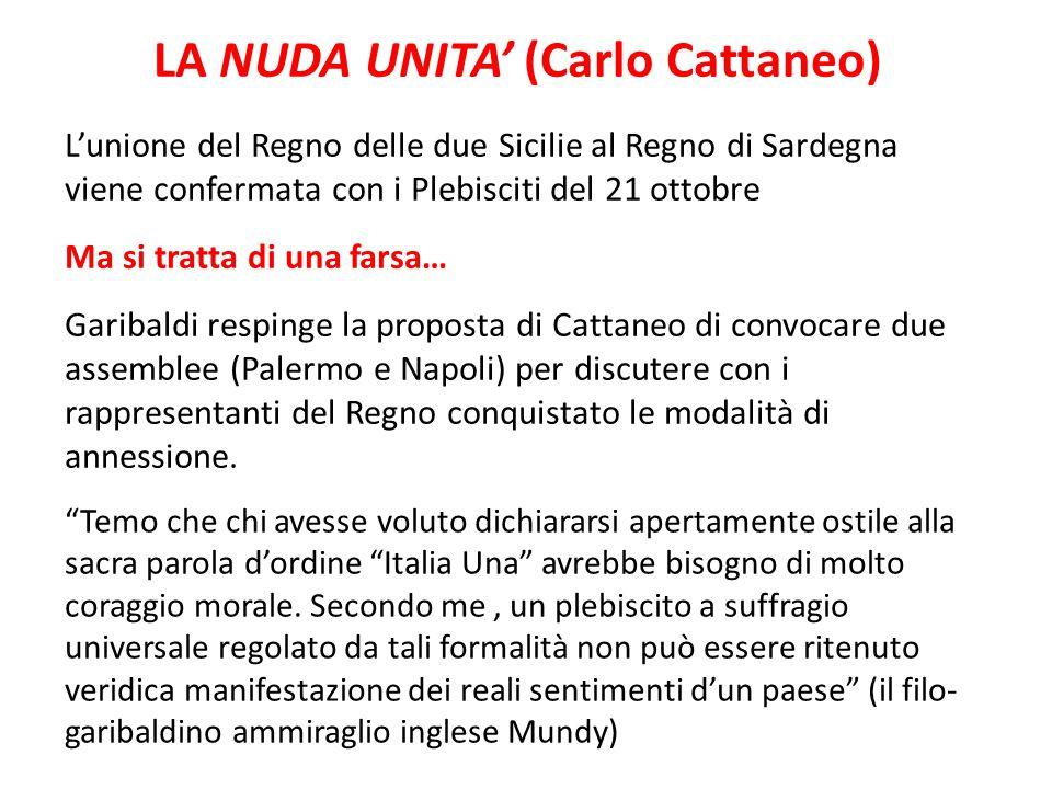 LA NUDA UNITA' (Carlo Cattaneo)