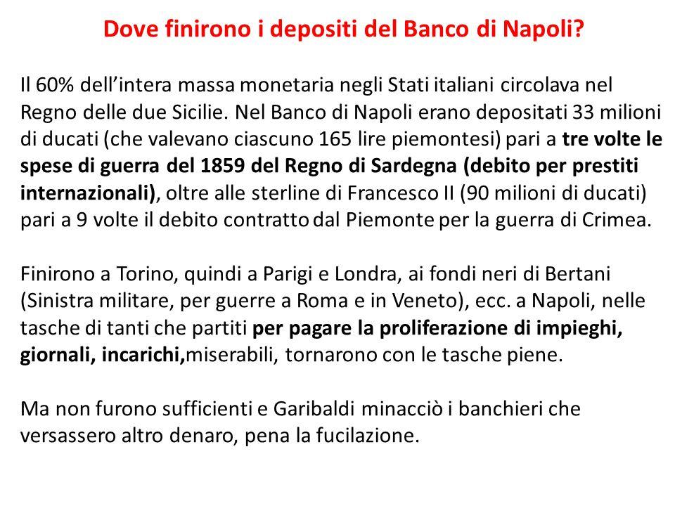 Dove finirono i depositi del Banco di Napoli