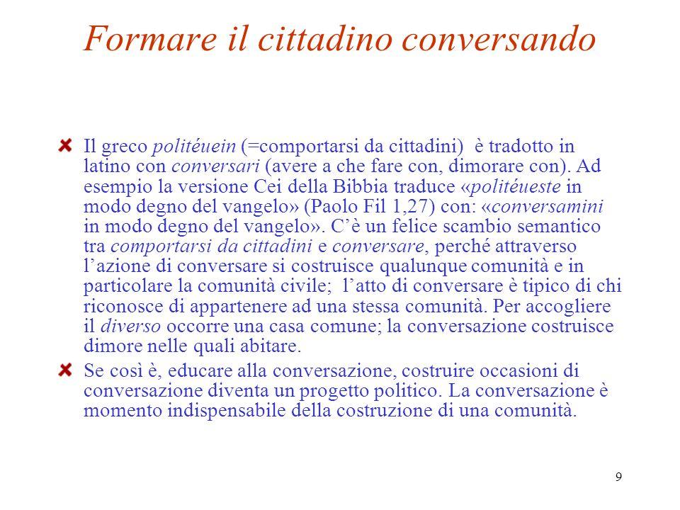 Formare il cittadino conversando