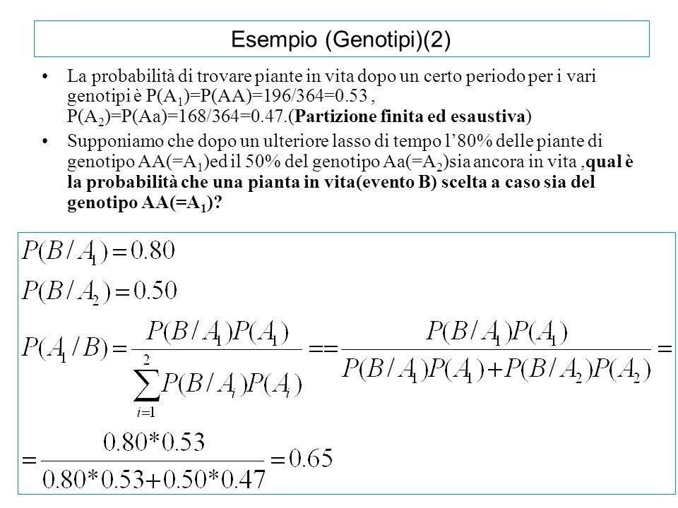 Esempio (Genotipi)(2)