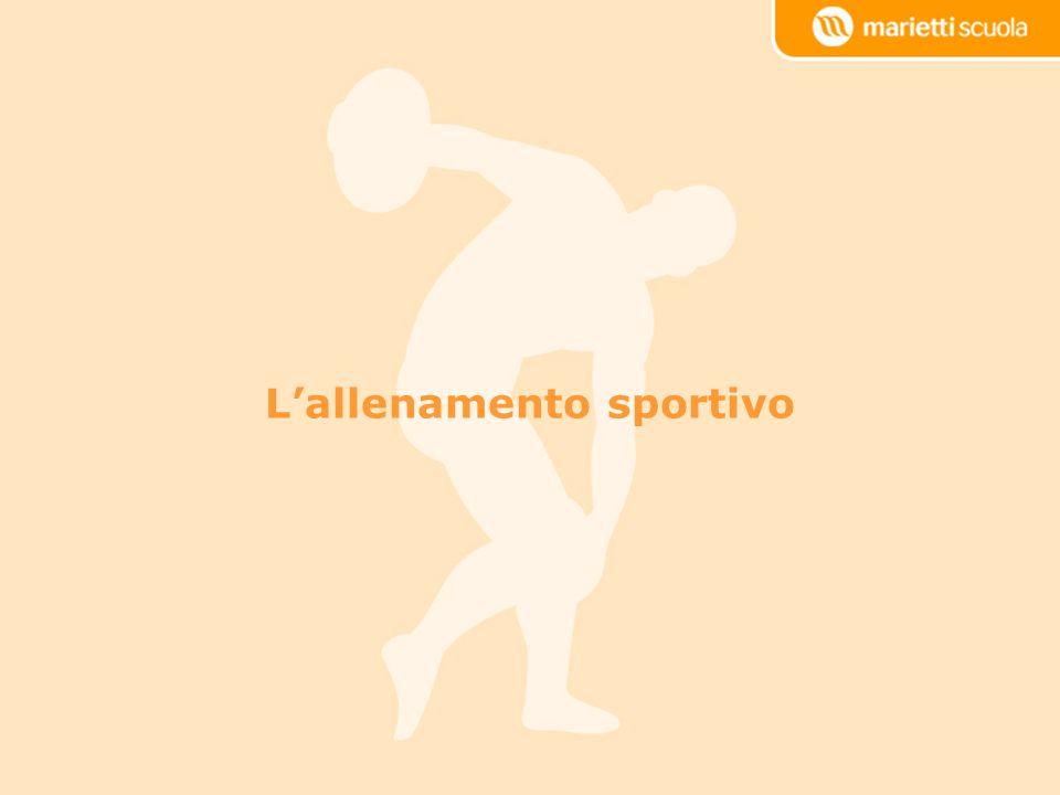 L'allenamento sportivo