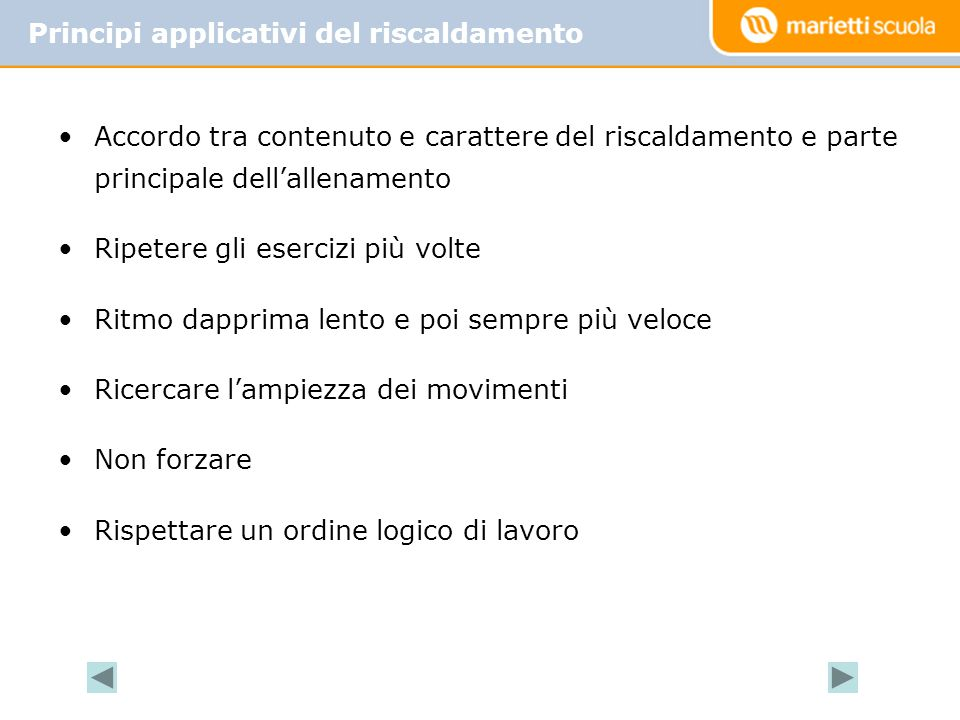 Principi applicativi del riscaldamento
