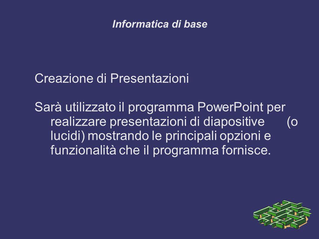 Creazione di Presentazioni