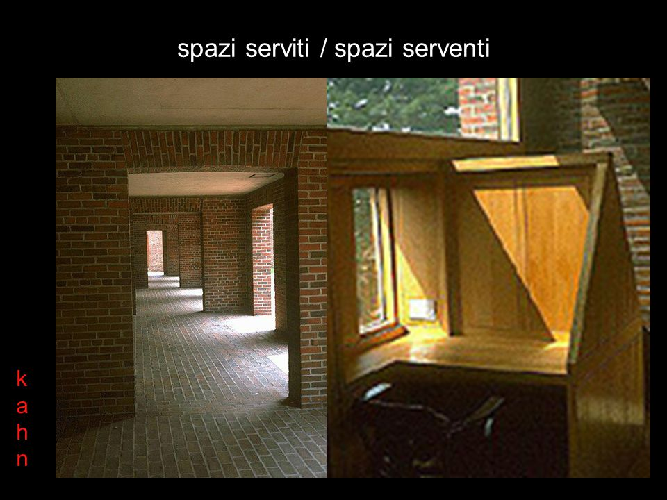 spazi serviti / spazi serventi