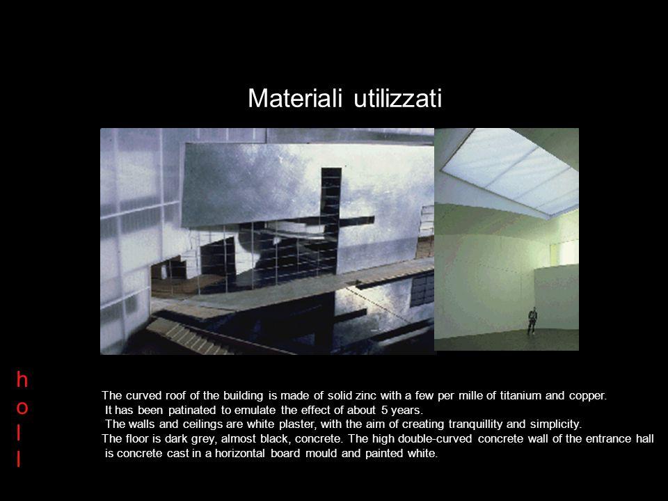 Materiali utilizzati h o l