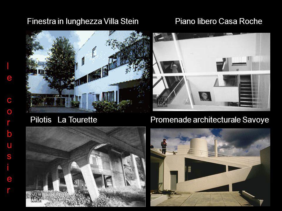 Finestra in lunghezza Villa Stein Piano libero Casa Roche