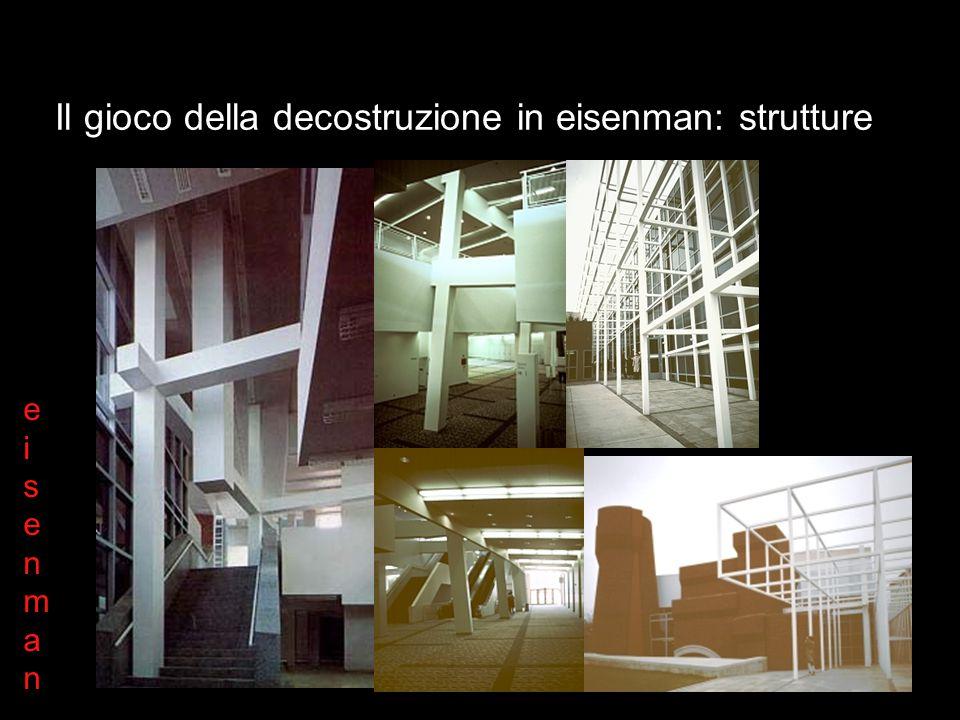 Il gioco della decostruzione in eisenman: strutture