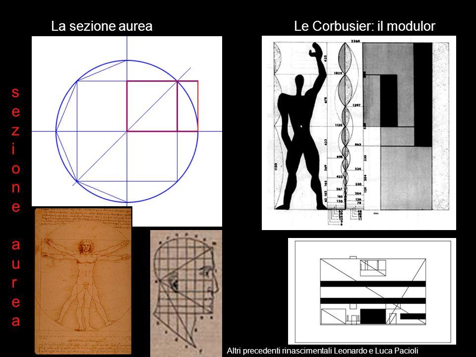 s e z i o n a u r La sezione aurea Le Corbusier: il modulor