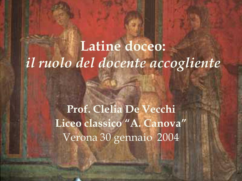 Latine doceo: il ruolo del docente accogliente