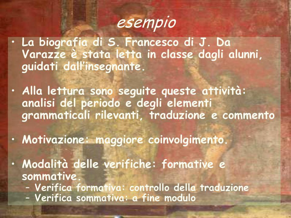 esempio La biografia di S. Francesco di J. Da