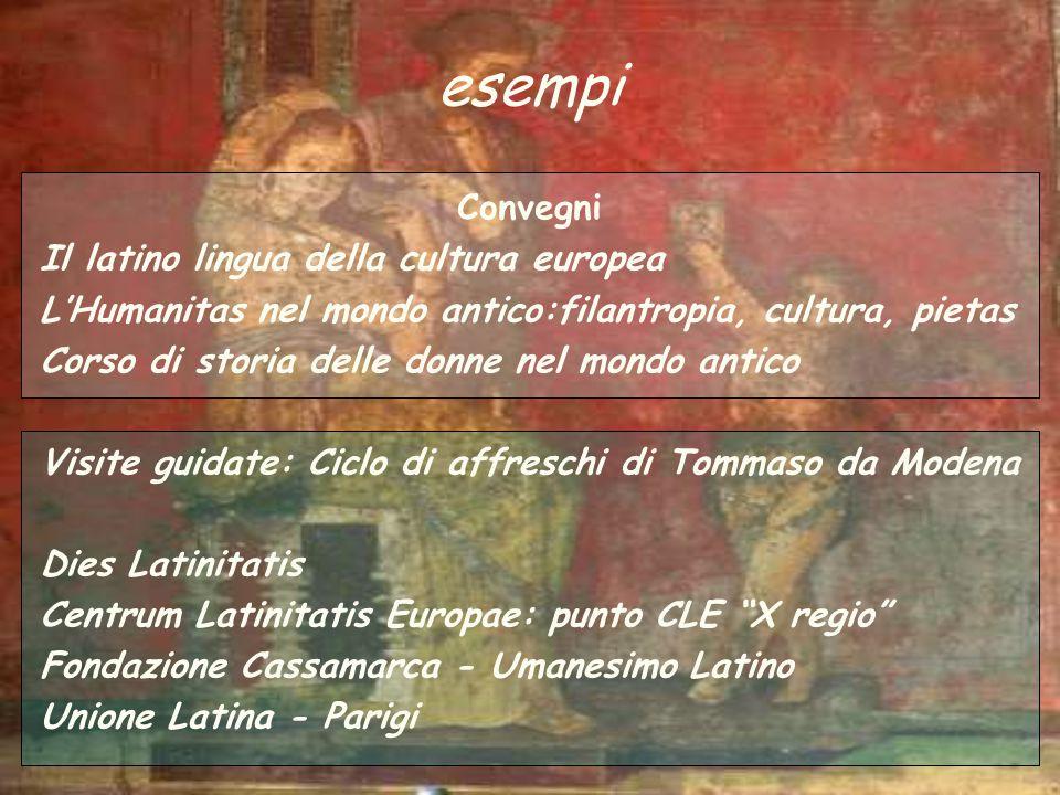 esempi Convegni Il latino lingua della cultura europea