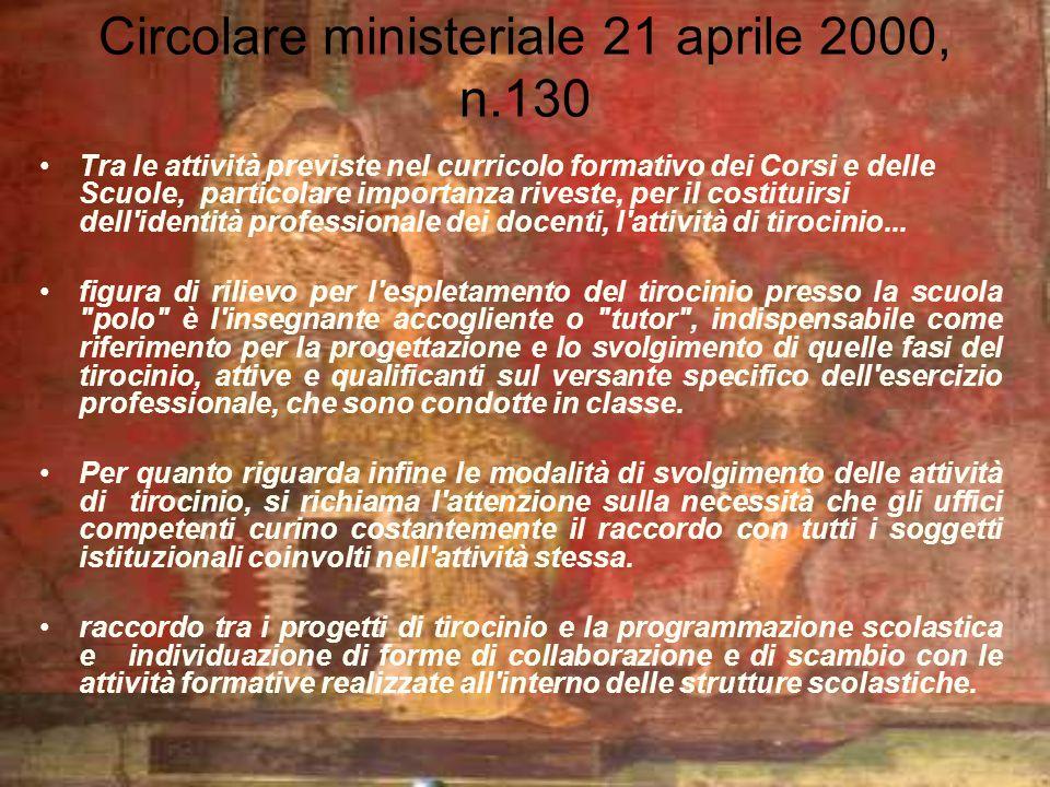 Circolare ministeriale 21 aprile 2000, n.130