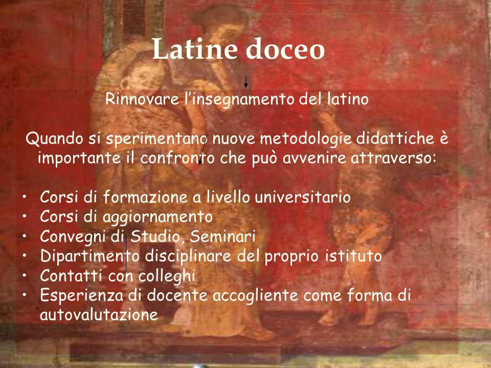 Latine doceo Rinnovare l'insegnamento del latino