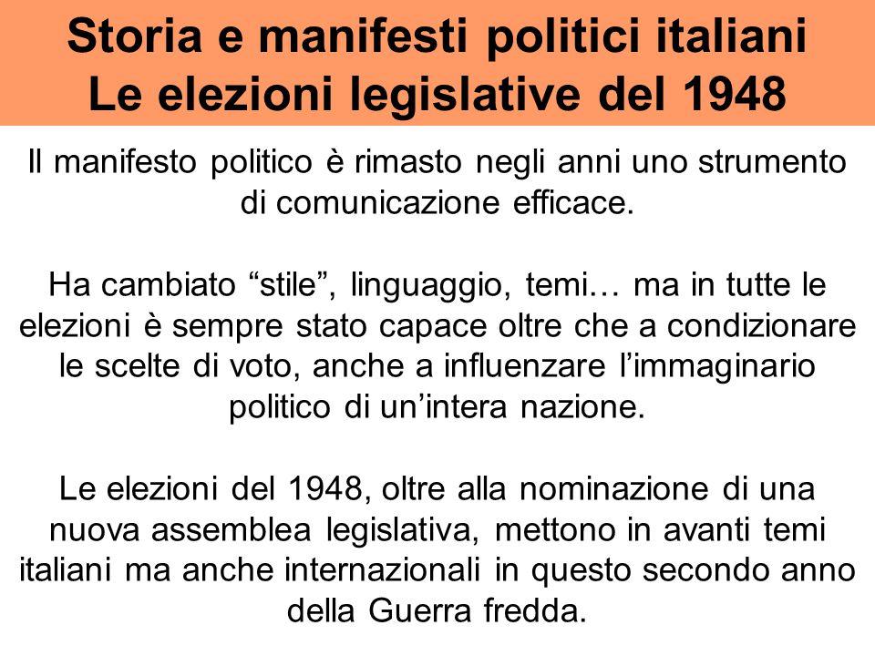 Storia e manifesti politici italiani Le elezioni legislative del 1948