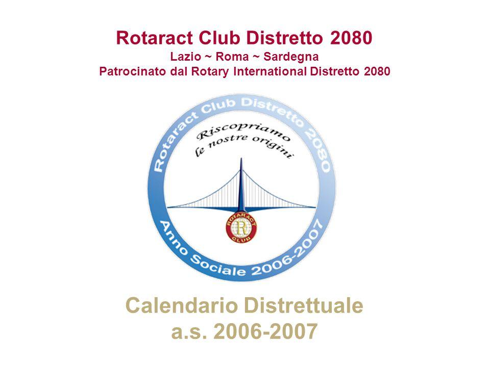 Calendario Distrettuale a.s. 2006-2007