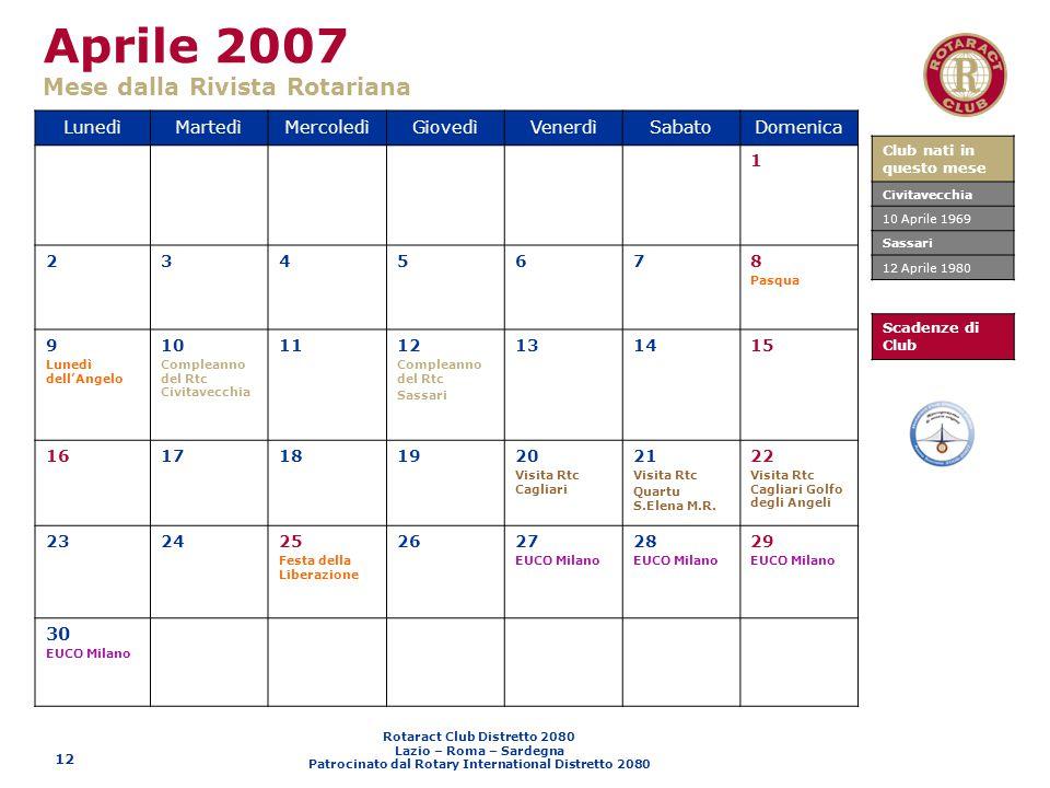 Aprile 2007 Mese dalla Rivista Rotariana