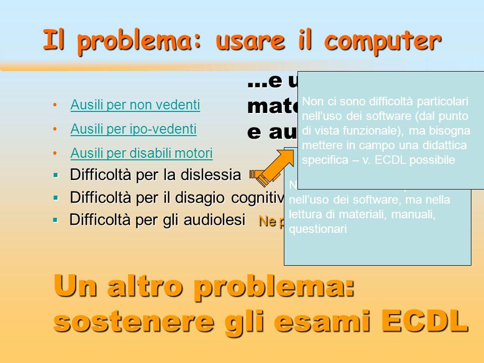 Il problema: usare il computer