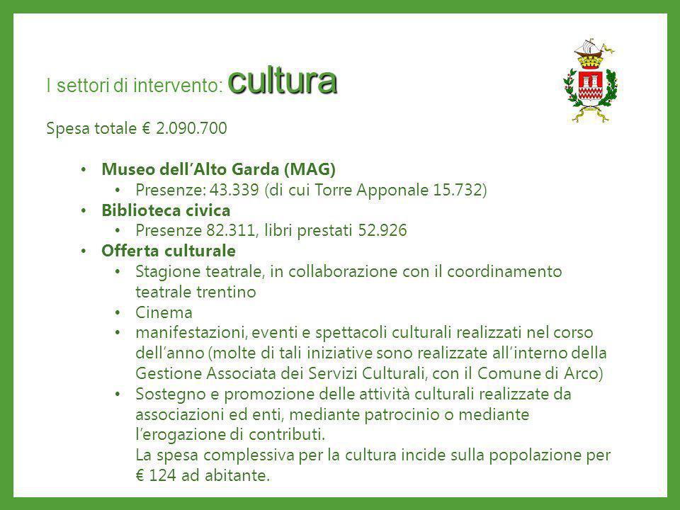 I settori di intervento: cultura