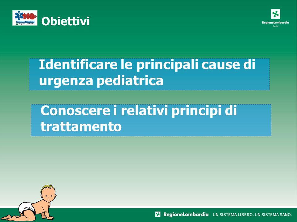 Identificare le principali cause di urgenza pediatrica