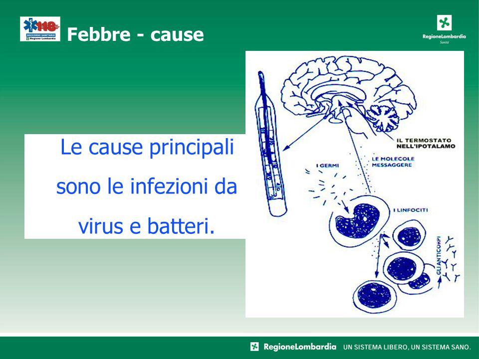 Le cause principali sono le infezioni da virus e batteri.