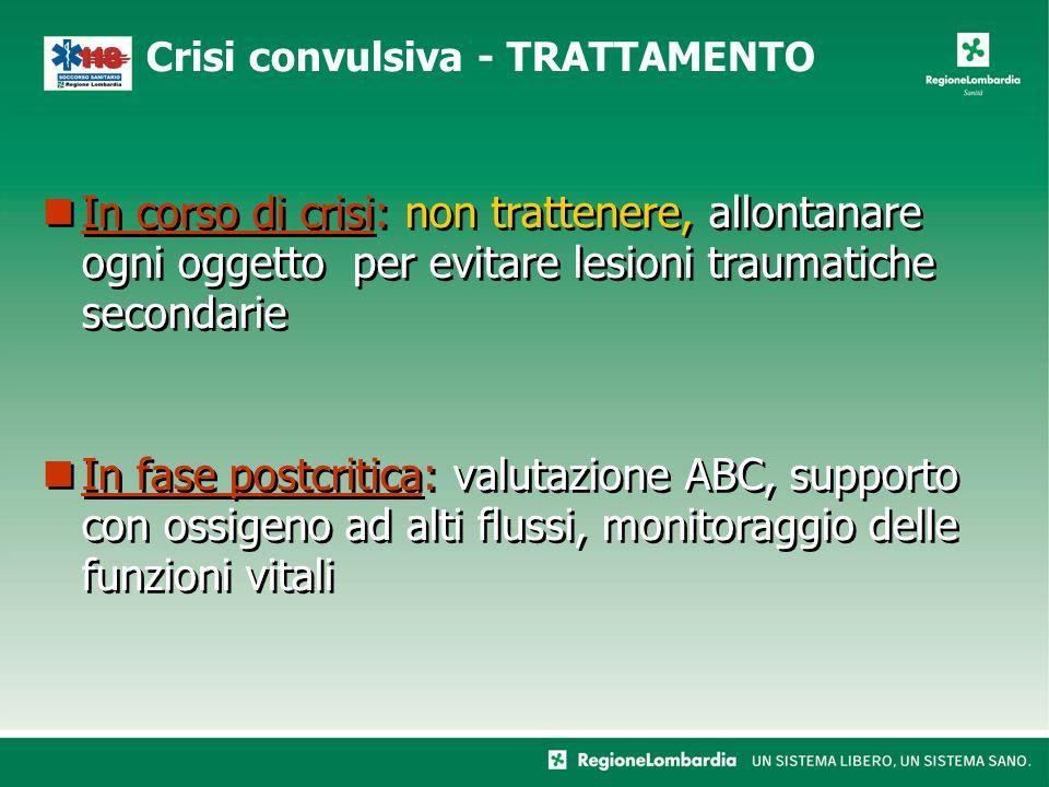 Crisi convulsiva - TRATTAMENTO