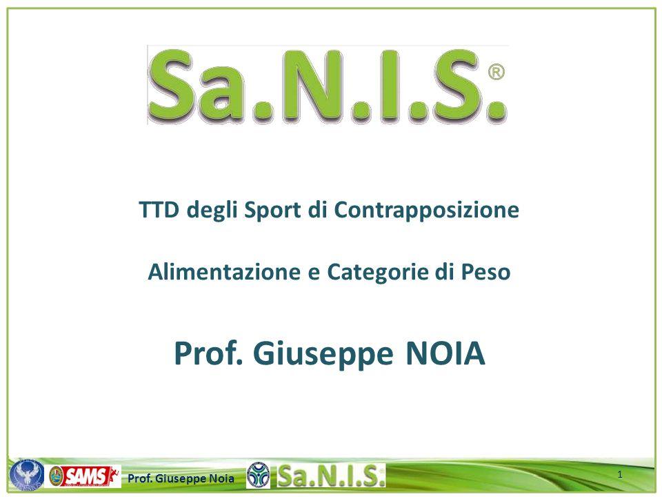 TTD degli Sport di Contrapposizione Alimentazione e Categorie di Peso