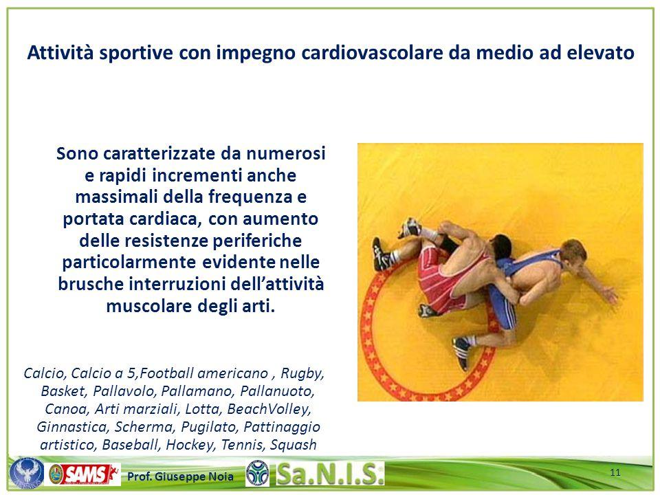 Attività sportive con impegno cardiovascolare da medio ad elevato