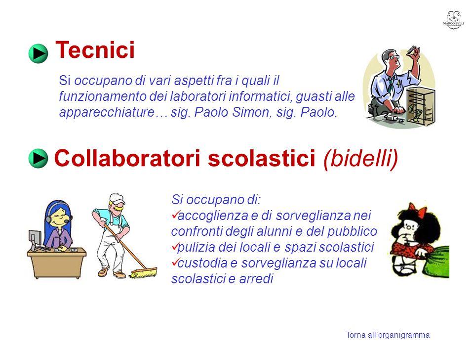 Collaboratori scolastici (bidelli)