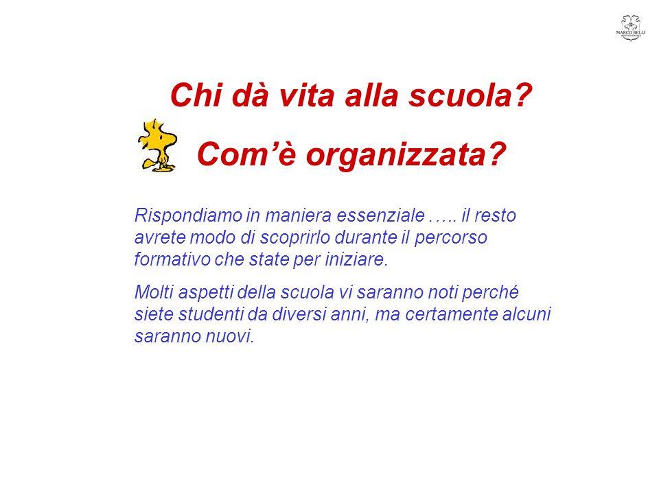 Chi dà vita alla scuola Com'è organizzata