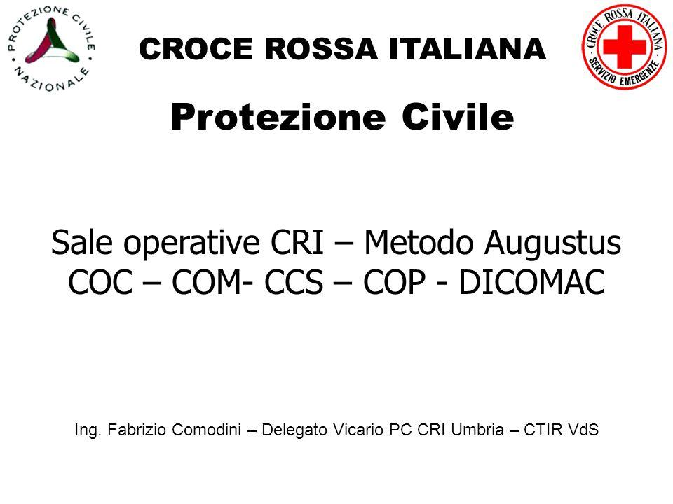 Protezione Civile Sale operative CRI – Metodo Augustus