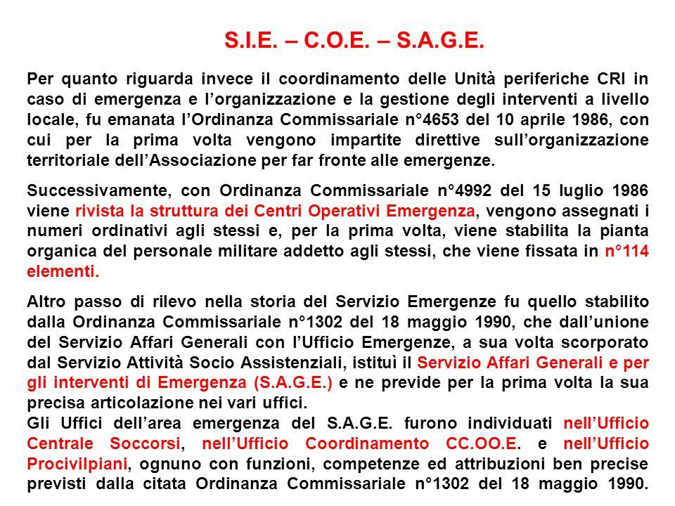S.I.E. – C.O.E. – S.A.G.E.
