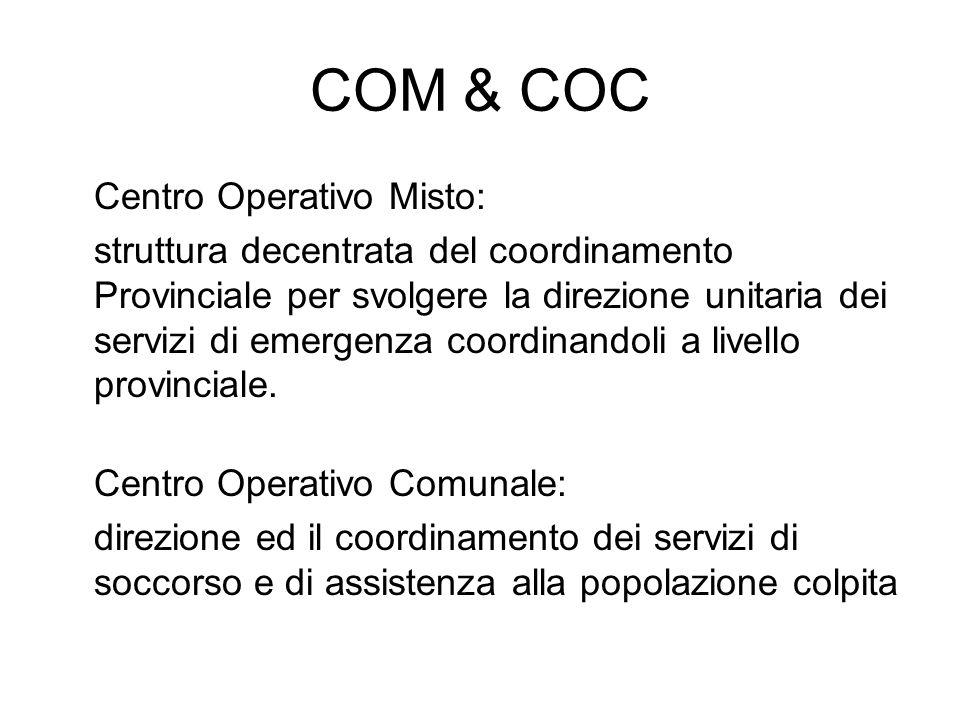 COM & COC Centro Operativo Misto: