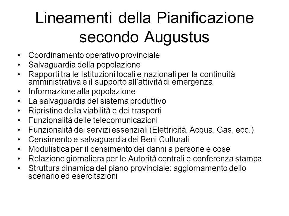 Lineamenti della Pianificazione secondo Augustus