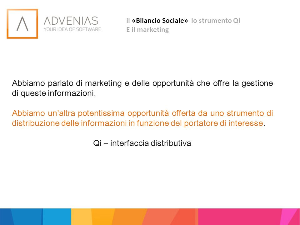Qi – interfaccia distributiva