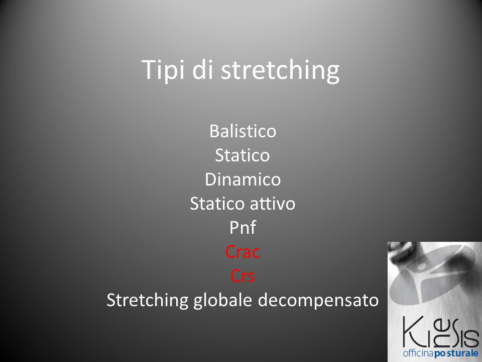 Stretching globale decompensato