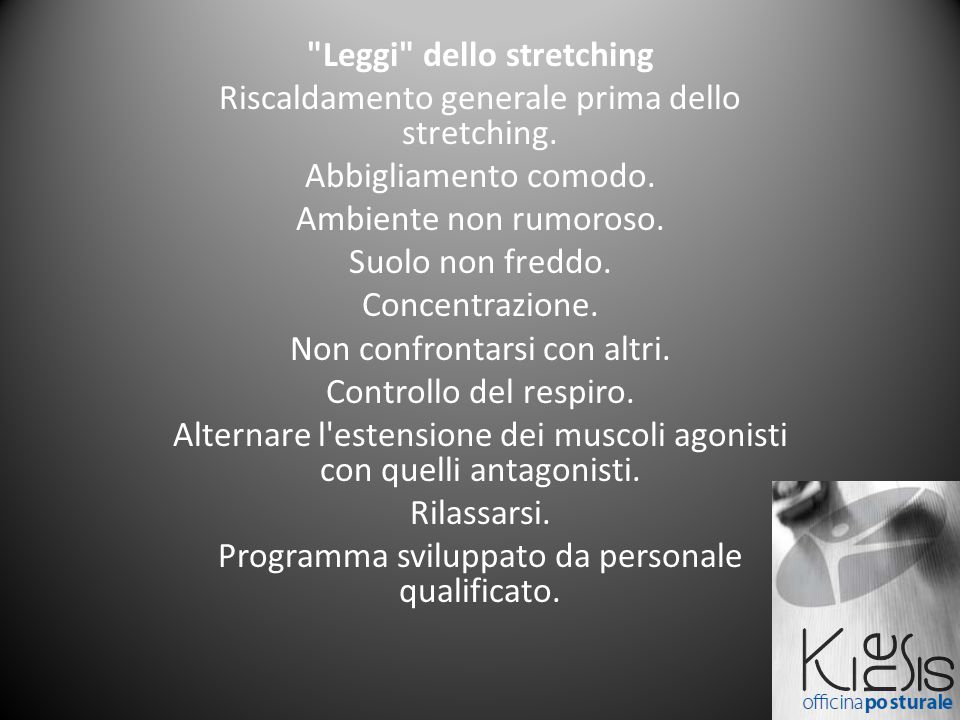 Leggi dello stretching