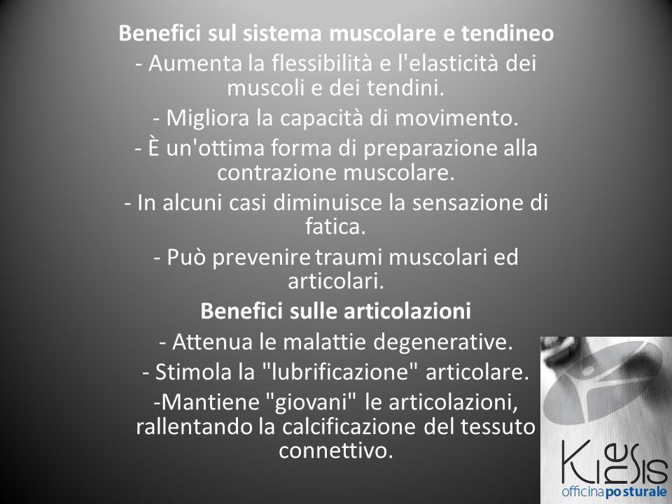 Benefici sul sistema muscolare e tendineo