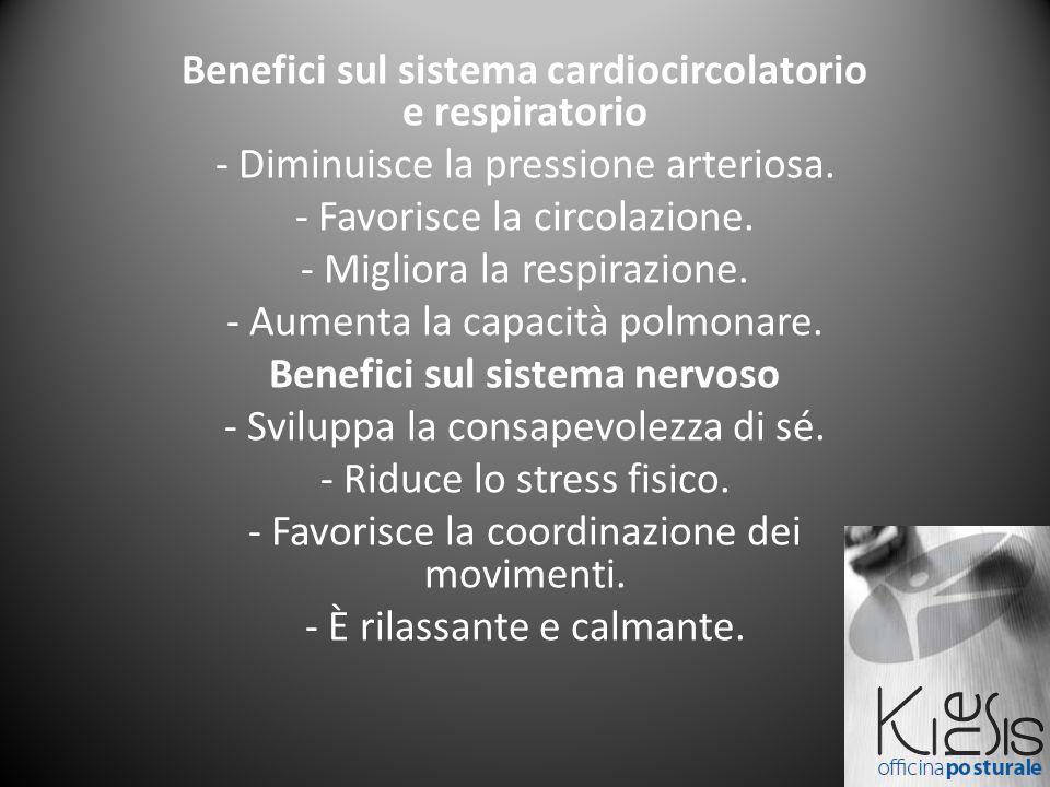 Benefici sul sistema cardiocircolatorio e respiratorio