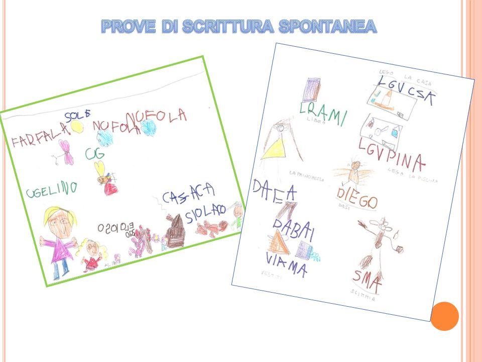 PROVE DI SCRITTURA SPONTANEA