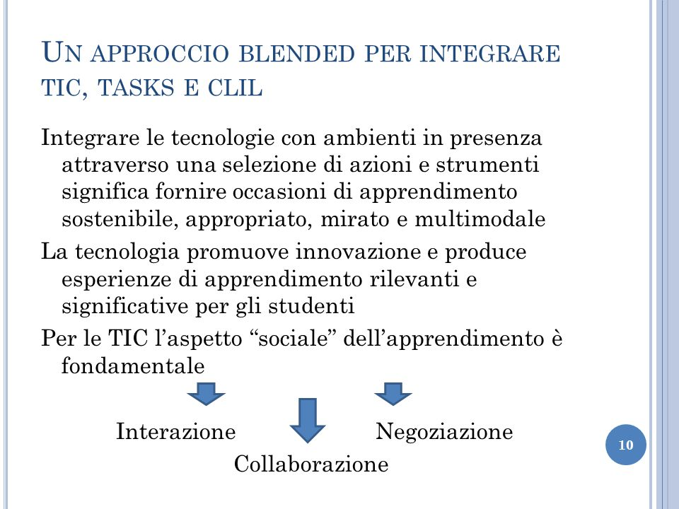 Un approccio blended per integrare tic, tasks e clil