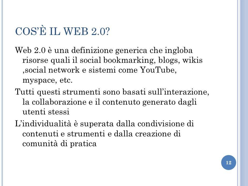 COS'È IL WEB 2.0