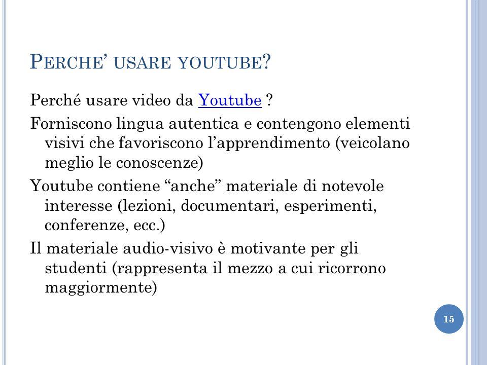 Perche' usare youtube